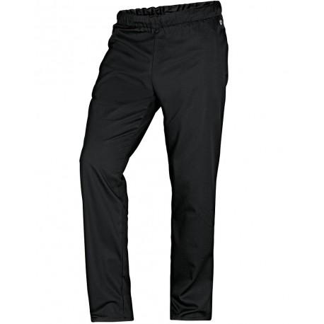 Pantalon de cuisine noir confortable de chez bp for Pantalon cuisine noir