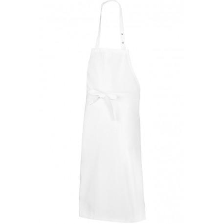 """Tablier de cuisine blanc bavette coton """"BP"""""""