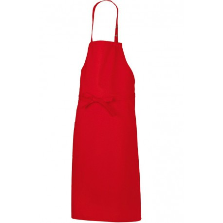 Tablier de cuisine bavette rouge BP