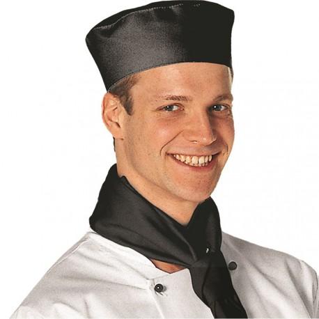 calot de cuisine noir