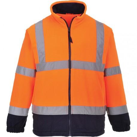 Blouson polaire haute visibilité orange - NORME EN 20471 -