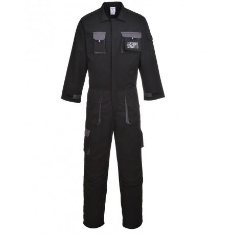 Combinaison de travail noire poches genoux - TEXO -