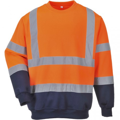 Sweat-Shirt orange haute visibilité Norme EN 20471