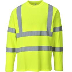 T-shirt jaune haute visibilité Manches Longues EN 20471