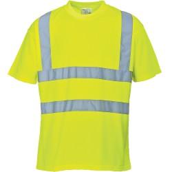 T-shirt haute visibilité jaune Manches Courtes EN 20471