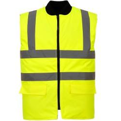 Gilet de travail Hiver jaune haute visibilité réversible EN 20471