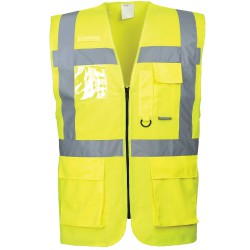 Gilet haute visibilité jaune multipoche Norme EN 20471