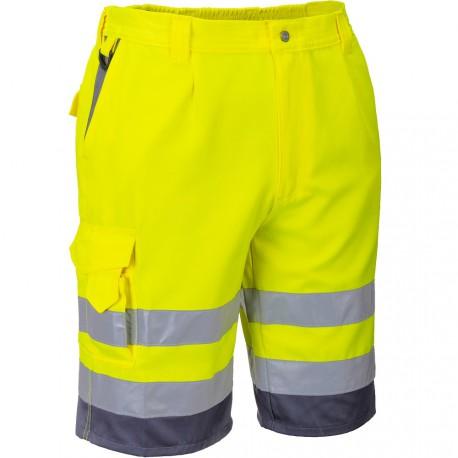Short de travail jaune haute visibilité EN 20471