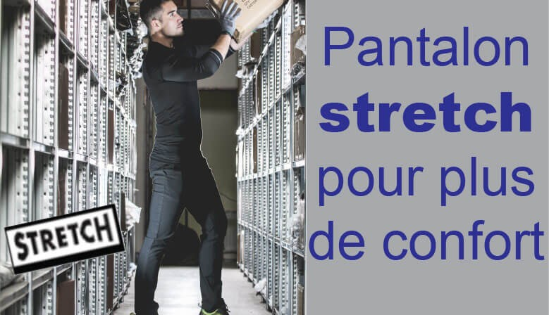 Pantalon de Travail coton Slim Stretch CHINO